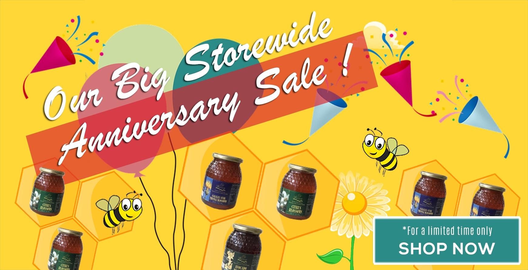 Honey Anniversary Sale